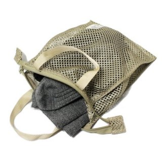 MESH WASH BAG (SMALL) / BEIGE