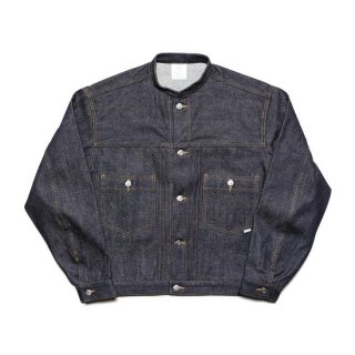 stand collar jacket / indigo