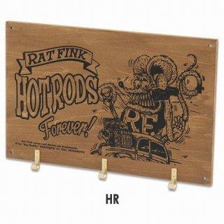 ラットフィンク フックボード Rat Fink Wooden Hook Board HotRod (RAF545:HR)  輸入雑貨/海外雑貨/直輸入/アメリカ雑貨/アメ雑
