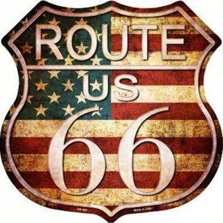 US ルート66 ハイウェイ メタルサイン1   輸入雑貨/海外雑貨/直輸入/アメリカ雑貨/アメ雑