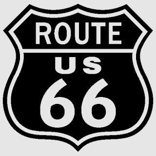 US ルート66 カットアウト ステッカー L ブラック  輸入雑貨/海外雑貨/直輸入/アメリカ雑貨/アメ雑