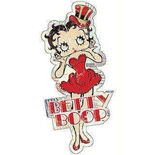 【Betty Boop】スティール サイン Betty Red Dress  ベティ  輸入雑貨/海外雑貨/直輸入/アメリカ雑貨/アメ雑