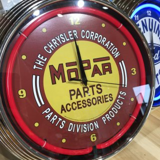 NEON CLOCK SINGLE【MOPAR】ネオン 時計  モパー 輸入雑貨/海外雑貨/直輸入/アメリカ雑貨/アメ雑