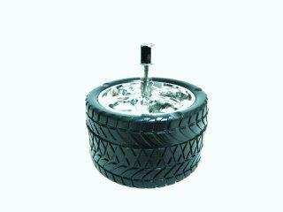 プッシュでポイッ タイヤ スピン アッシュトレイ 灰皿   輸入雑貨/海外雑貨/直輸入/アメリカ雑貨/アメ雑