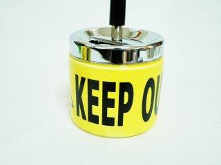 危険 注意 ターンダウンアッシュトレイ ショートターン 灰皿 KEEP OUT   輸入雑貨/海外雑貨/直輸入/アメリカ雑貨/アメ雑