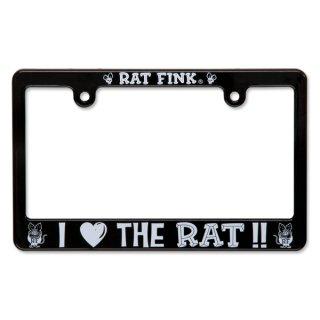 ラットフィンク Rat Fink モーターサイクル ライセンス フレーム アイ ラブ ザ ラット [RAF206IL]輸入雑貨/海外雑貨/直輸入/アメリカ雑貨/アメ雑
