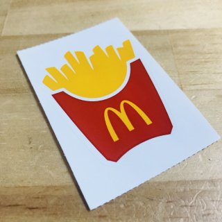 McDonald's STICKER POTATO ICON マクドナルド ステッカー  輸入雑貨/海外雑貨/直輸入/アメリカ雑貨/アメ雑