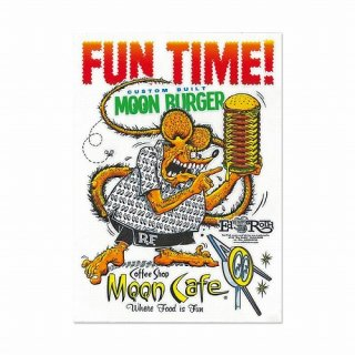 RatFink x MOON Cafe Sticker (MQD037) ラットフィンク ムーンアイズ カフェ ステッカー  輸入雑貨/海外雑貨/直輸入/アメリカ雑貨
