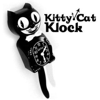 Kitty-Cat Klock(クラシックブラック) キティーキャットクロック 時計 輸入雑貨/海外雑貨/直輸入/アメリカ雑貨