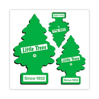 Little Trees リトルツリー ステッカー グリーン シンボル 3pc セット 輸入雑貨/海外雑貨/直輸入/アメリカ雑貨/アメ雑/リトルツリー/エアーフレッシュナー