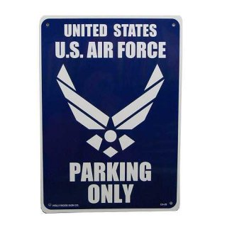プラスチック サイン ボード Plastic Sign Board (CA-28米空軍専用駐車場) 輸入雑貨/アメリカ雑貨