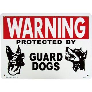 プラスチック サイン ボード Plastic Sign Board (CA-17:番犬で警護中) 輸入雑貨/アメリカ雑貨