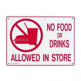 プラスチック サイン ボード Plastic Sign Board (CA-16飲食禁止)  輸入雑貨/アメリカ雑貨