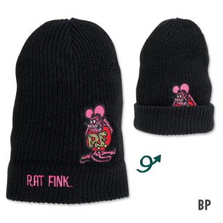 Rat Fink ラットフィンク ビーニー  ブラックピンク 輸入雑貨/アメリカ雑貨