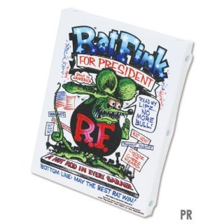 <img class='new_mark_img1' src='//img.shop-pro.jp/img/new/icons5.gif' style='border:none;display:inline;margin:0px;padding:0px;width:auto;' />ラットフィンク Rat Fink アート キャンバス (Sサイズ)  PR 輸入雑貨/アメリカ雑貨