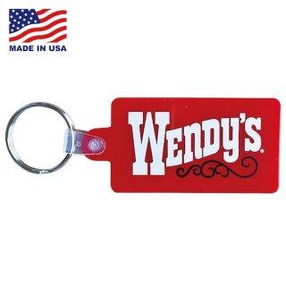 ウェンデーズ ラバー キーチェーン キーホルダー Wendys RUBBER KEYCHAIN  Wendys OLD LOGO RED 輸入雑貨/アメリカ雑貨