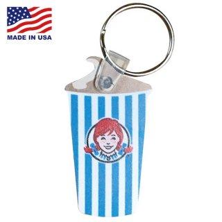 ウェンデーズ ラバー キーチェーン キーホルダー Wendys RUBBER KEYCHAIN  Wendys CUP 輸入雑貨/アメリカ雑貨