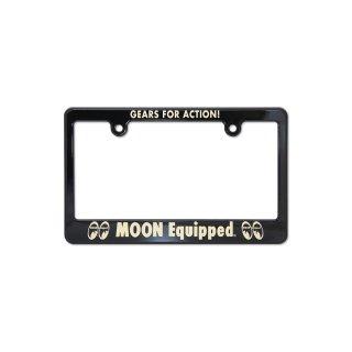 ムーンアイズ MOON Equipped GEARS FOR ACTION! ライセンス プレート フレーム for モーターサイクル ブラック【for 126cc UP】 [MG130MMQ]