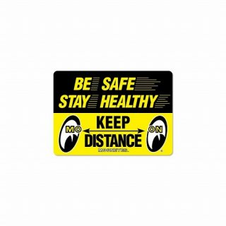 ムーンアイズ ステッカー MOON Message Sticker Keep Distance