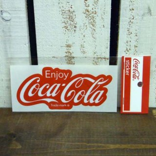<img class='new_mark_img1' src='//img.shop-pro.jp/img/new/icons5.gif' style='border:none;display:inline;margin:0px;padding:0px;width:auto;' />☆COKE☆   (CC-BA30:80年代ロゴ)コカコーラ ステッカー  輸入雑貨/海外雑貨/直輸入/アメリカ雑貨