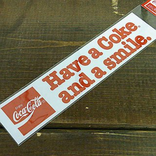 <img class='new_mark_img1' src='//img.shop-pro.jp/img/new/icons5.gif' style='border:none;display:inline;margin:0px;padding:0px;width:auto;' />ステッカー☆COKE M (CC-BS11:and a smile) コカコーラ ステッカー  輸入雑貨/海外雑貨/直輸入/アメリカ雑貨
