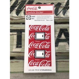 <img class='new_mark_img1' src='//img.shop-pro.jp/img/new/icons5.gif' style='border:none;display:inline;margin:0px;padding:0px;width:auto;' />Coca-Cola SWITCH ステッカー Coca-Cola1-総柄M (CC-ES5-2)コカコーラ ステッカー  輸入雑貨/海外雑貨/直輸入/アメリカ雑貨