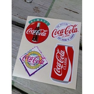 <img class='new_mark_img1' src='https://img.shop-pro.jp/img/new/icons5.gif' style='border:none;display:inline;margin:0px;padding:0px;width:auto;' />ステッカー☆COKE☆ (CC-BA67:コカ・コーラ VALUE ALWAYS DISK 他)コカコーラ ステッカー  輸入雑貨/海外雑貨/直輸入/アメリカ雑貨