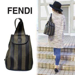 FENDI フェンディ<br>【Vintage ヴィンテージ】<br>ぺカン柄ワンショルダーバッグ