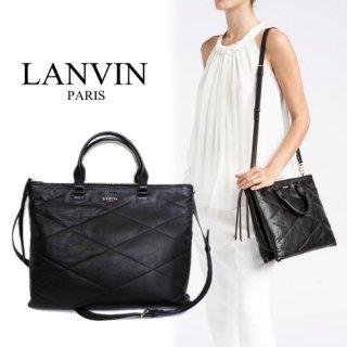 LANVIN ランバン【notVintage】<br>キルト ラムスキン シュガー デイバッグ