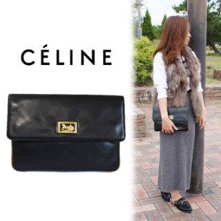 CELINE セリーヌ<br>【Vintage ヴィンテージ】<br>ホースキャリッジクラッチバッグ