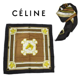 CELINE セリーヌ<br>【Vintage ヴィンテージ】<br>スカーフ