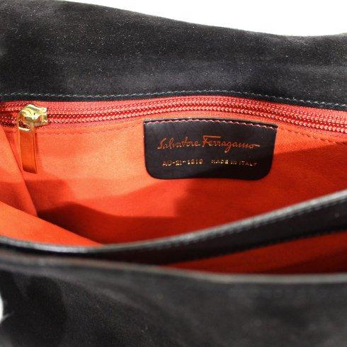 Ferragamo フェラガモ<br>【Vintage ヴィンテージ】<br>ガンチーニスウェード×レザーショルダーバッグ