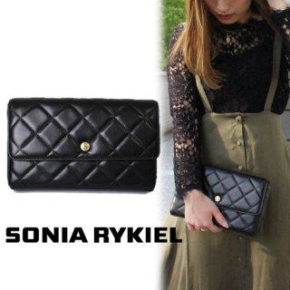 SONIA RYKIEL ソニアリキエル<br>【Vintage ヴィンテージ】<br>キルティングクラッチバッグ