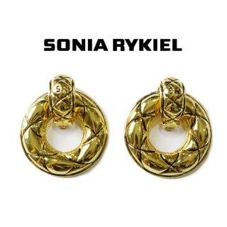 SONIA RYKIEL ソニアリキエル<br>【Vintage ヴィンテージ】<br>マトラッセフープイヤリング