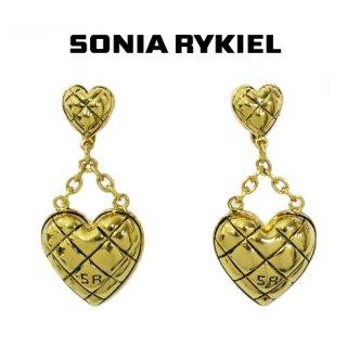 SONIA RYKIEL ソニアリキエル<br>【Vintage ヴィンテージ】<br>ハートモチーフスウィングイヤリング