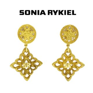 SONIA RYKIEL ソニアリキエル<br>【Vintage ヴィンテージ】<br>ヴィンテージイヤリング