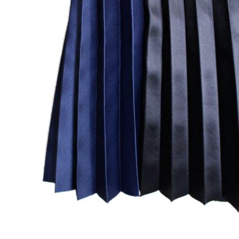RiLish's SELECT<br>バイカラープリーツサテンスカート