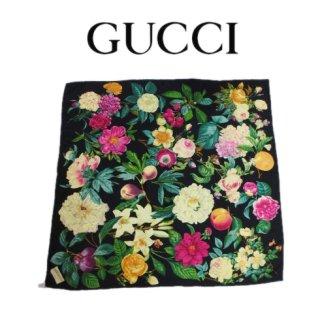 GUCCI グッチ<br>【Vintage ヴィンテージ】<br>花柄スカーフ