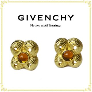 GIVENCHY ジバンシー<br>【Vintage ヴィンテージ】<br>フラワーモチーフイヤリング