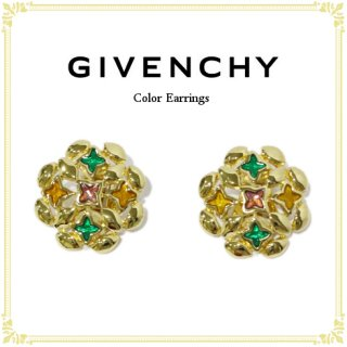 GIVENCHY ジバンシー<br>【Vintage ヴィンテージ】<br>カラーイヤリング