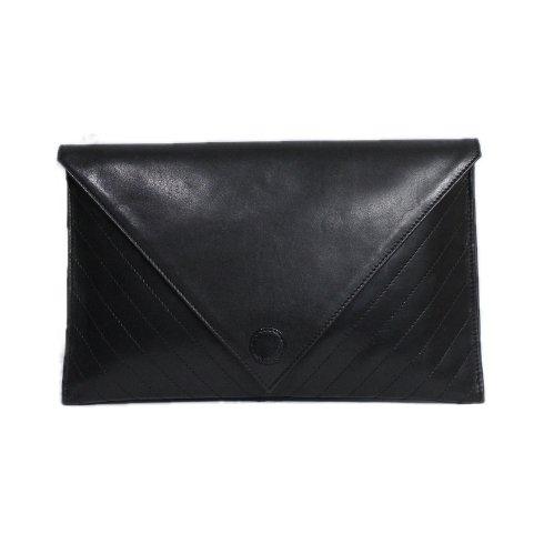SONIA RYKIEL ソニアリキエル ヴィンテージ<br>Vステッチレザークラッチバッグ