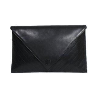 SONIA RYKIEL ソニアリキエル<br>【Vintage ヴィンテージ】<br>Vステッチレザークラッチバッグ