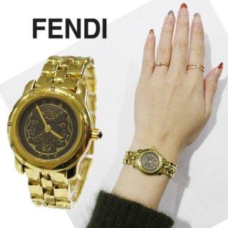FENDI フェンディ<br>【Vintage ヴィンテージ】<br>ローマ フェイスモチーフQZ腕時計