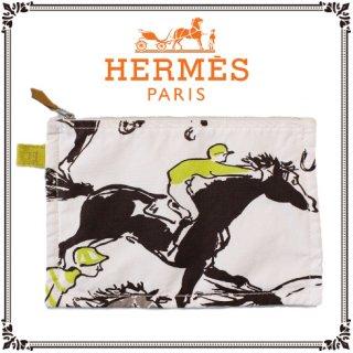 HERMES エルメス<br>【Vintage ヴィンテージ】<br>ホースモチーフ ボラボラポーチ