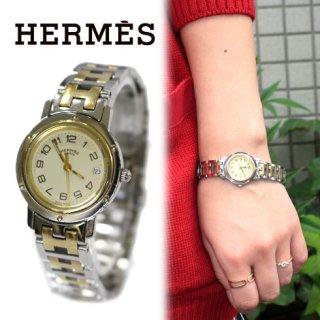 HERMES エルメス<br>【Vintage ヴィンテージ】<br>クリッパーQZ腕時計
