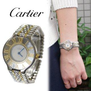 Cartier カルティエ<br>【Vintage ヴィンテージ】<br>マスト21 コンビQZ腕時計