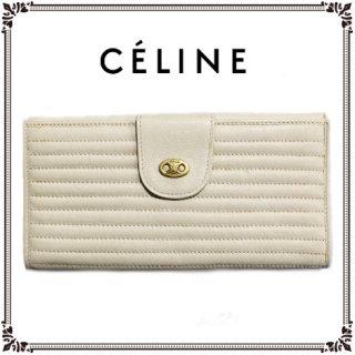 CELINE セリーヌ<br>【Vintage ヴィンテージ】<br>ブラゾン長財布