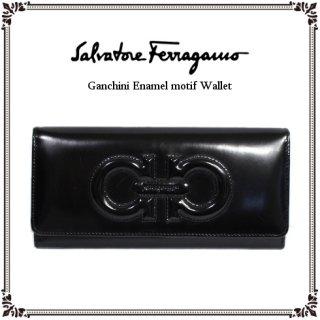 Ferragamo フェラガモ<br>【Vintage ヴィンテージ】<br>ガンチーニエナメルモチーフ長財布