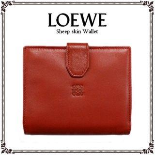 LOEWE ロエベ<br>【Vintage ヴィンテージ】<br>シープスキン二つ折り財布