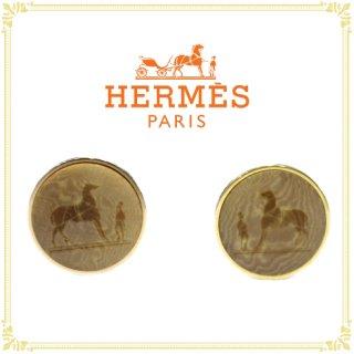 HERMES エルメス<br>【Vintage ヴィンテージ】<br>コロゾ イヤリング